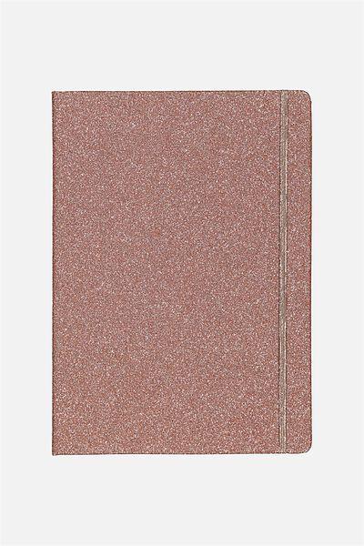 A4 Buffalo Journal, ROSE GOLD GLITTER