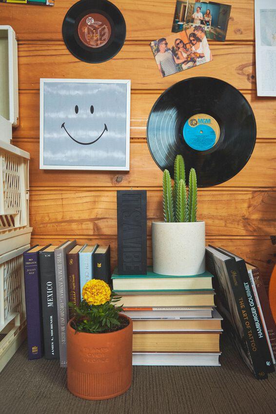 24 X 24 Smiley Mini Canvas Art, LCN SMI SMILEY GREY TIE DYE