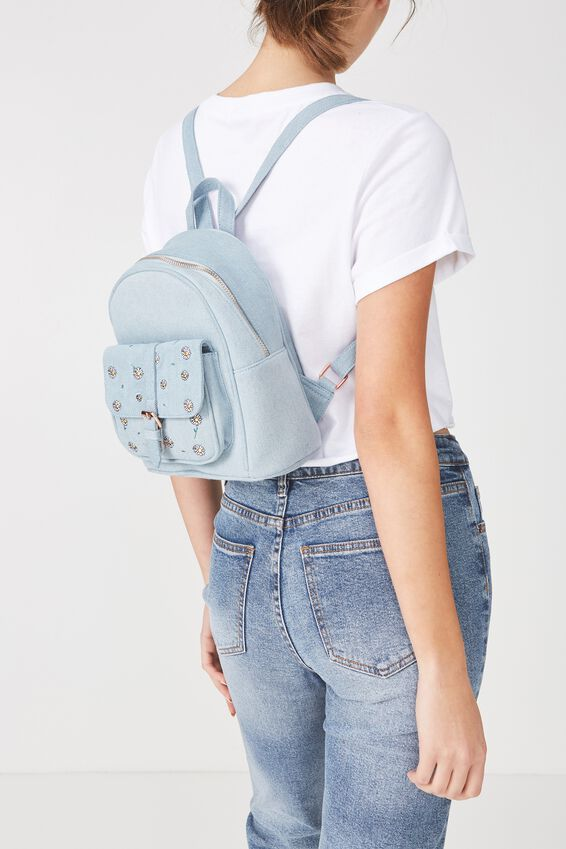 Mini Buffalo Backack, CHAMBRAY
