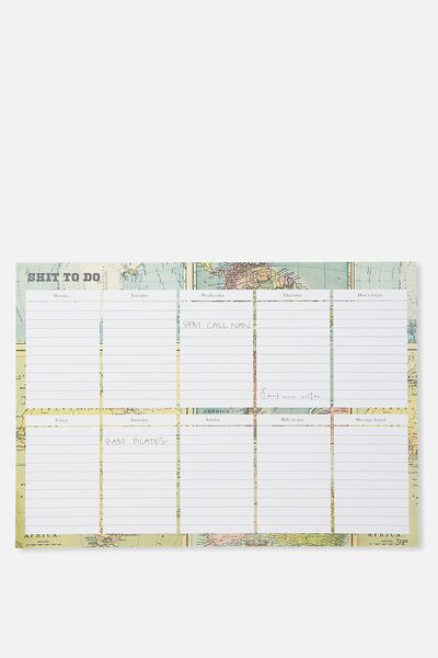 A3 Plan Ahead Planner, MAP