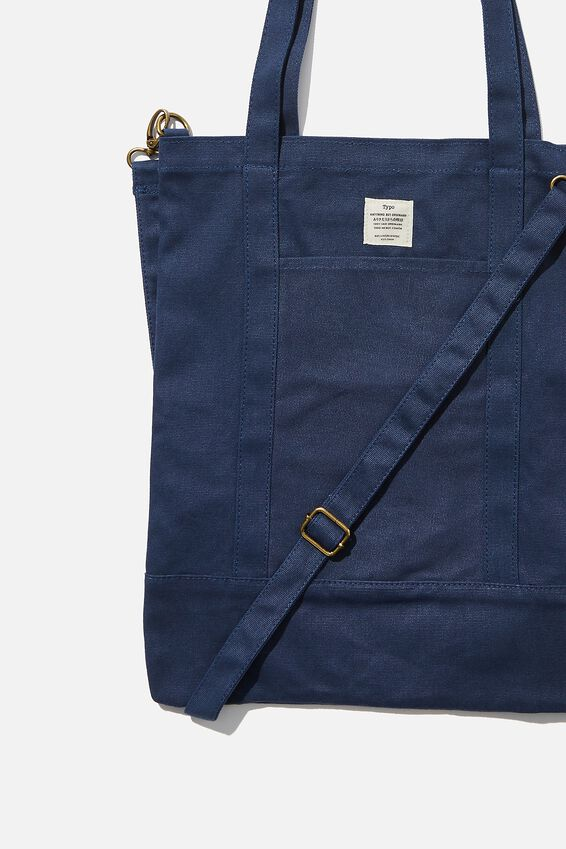 Book Tote Bag, WASHED NAVY