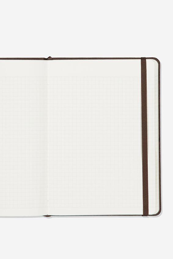 A5 Buffalo Journal Grid Internal, RICH TAN