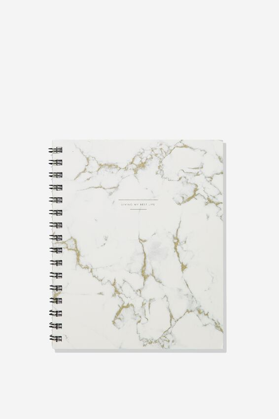 A5 Campus Notebook Dot Internal, WHITE MARBLE LOTS TO DO
