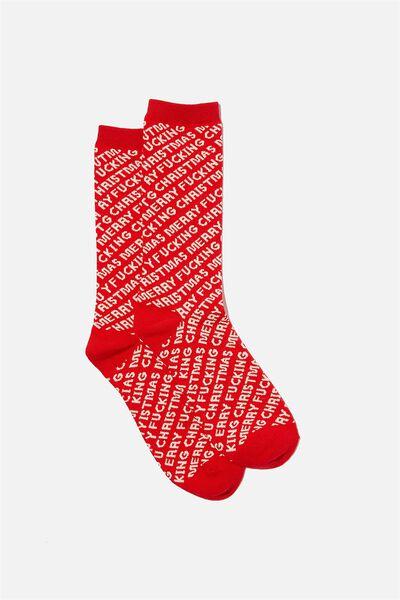 Socks, MERRY F@#KING CHRISTMAS!!