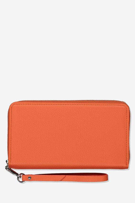 Zip Around Wallet, CORAL