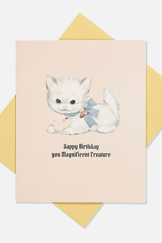 Nice Birthday Card, MAGNIFICENT CREATURE CAT