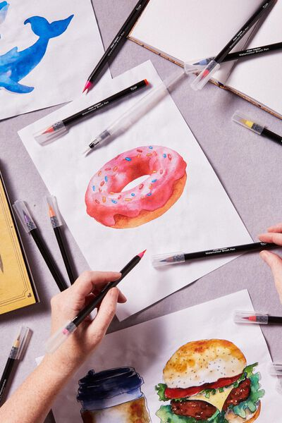 Watercolour Brush Pen 20Pk, MULTI