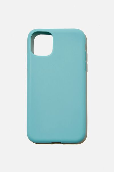 Recycled Phone Case iPhone 11, DUSTY TURQUOISE