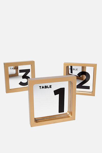 Premium Table Numbers, MIRROR
