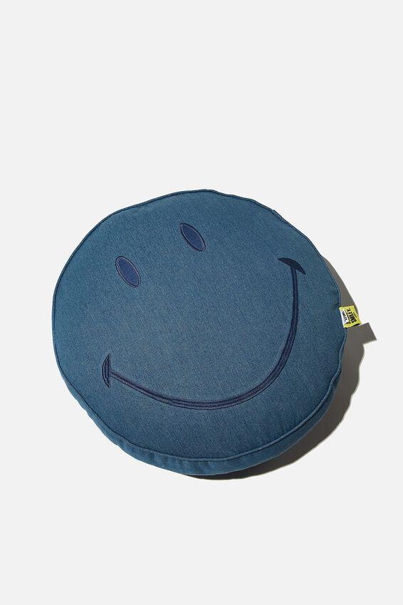 Denim Smiley Get Cushy Cushion, LCN SMI SMILEY DENIM