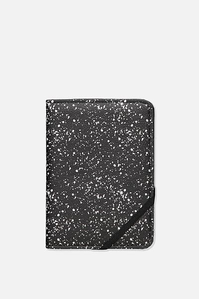 Rfid Passport Holder, BLACK SPLATTER