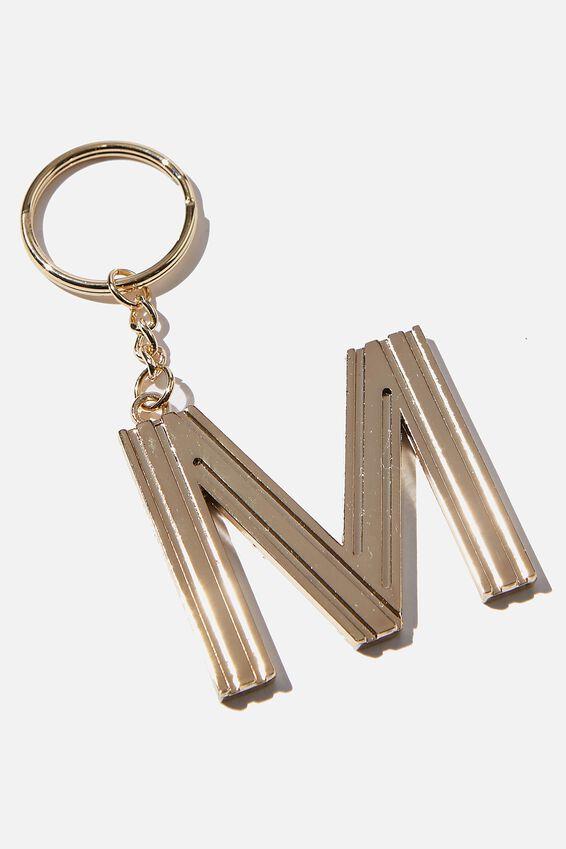 Alphabet Keyring, GOLD GRID M