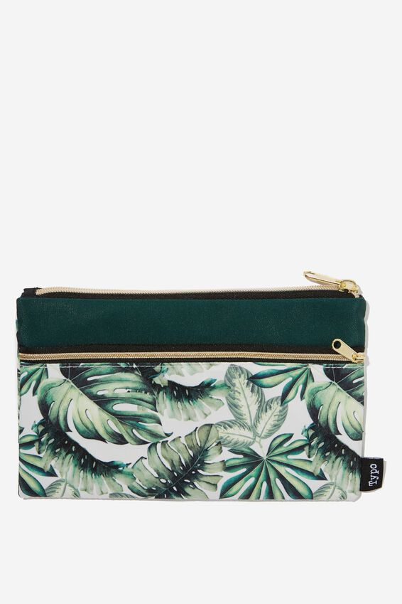 Archer Pencil Case, MONSTERA