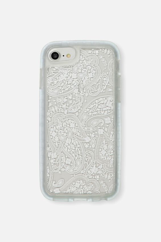 Superior Phone Case Universal 6,7,8, WHITE LACE