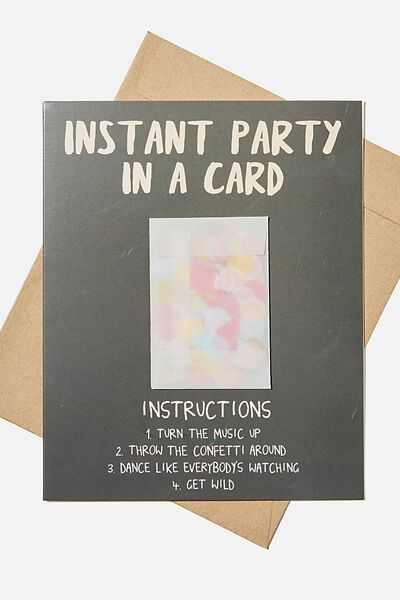 Premium Nice Birthday Card, INSTANT PARTY CONFETTI