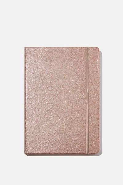 A5 Dot Buffalo Journal, ROSE GOLD GLITTER