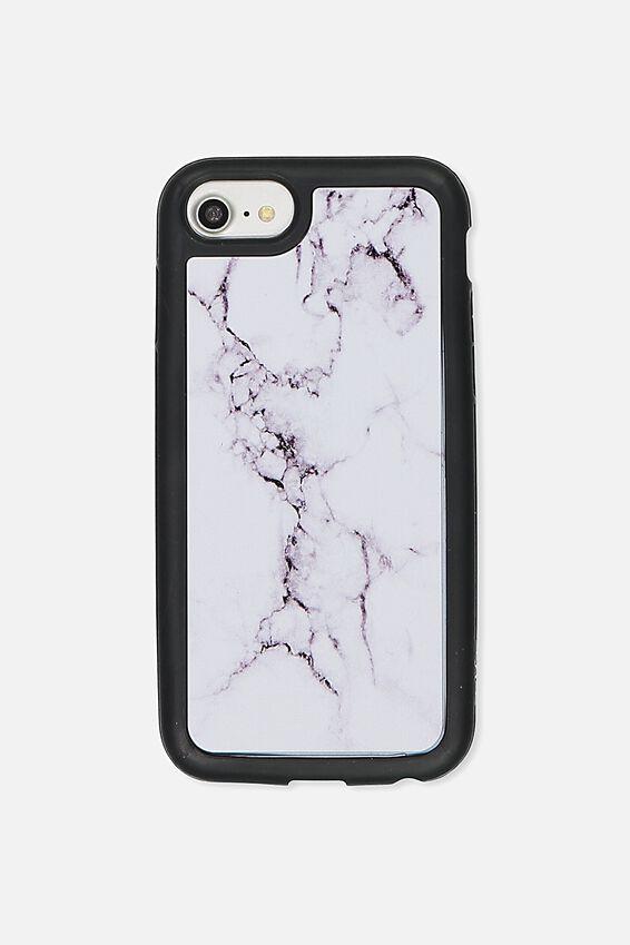 Superior Phone Case Universal 6,7,8, WHITE MARBLE