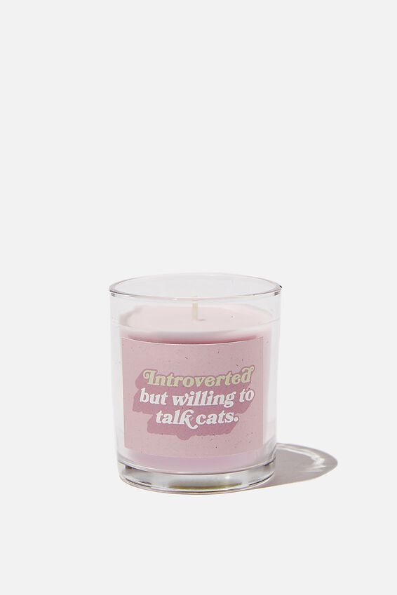 Talk To Me Candle Small, INTROVERTED