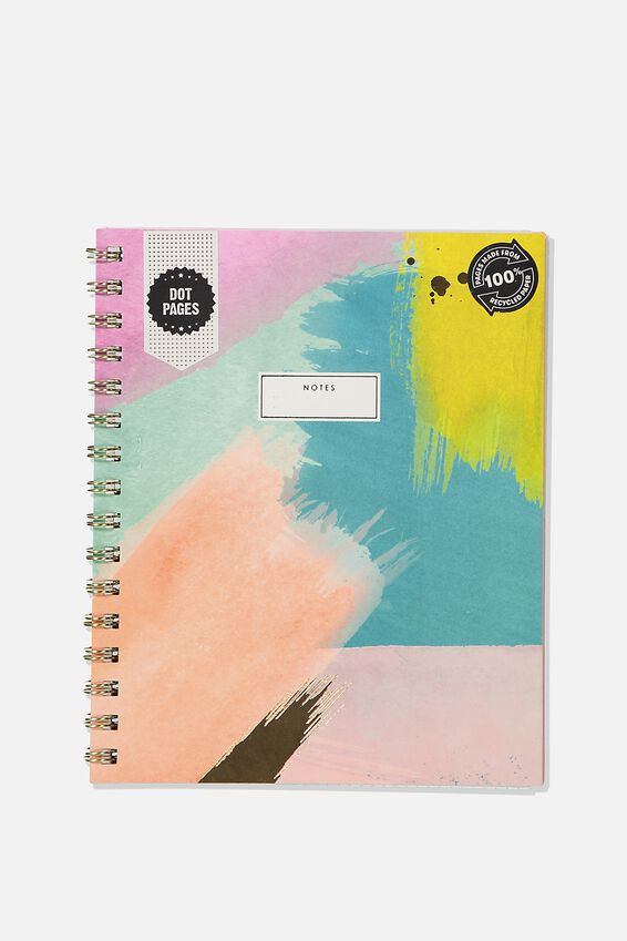 A5 Campus Notebook Dot Internal Recycled, PAINTLY