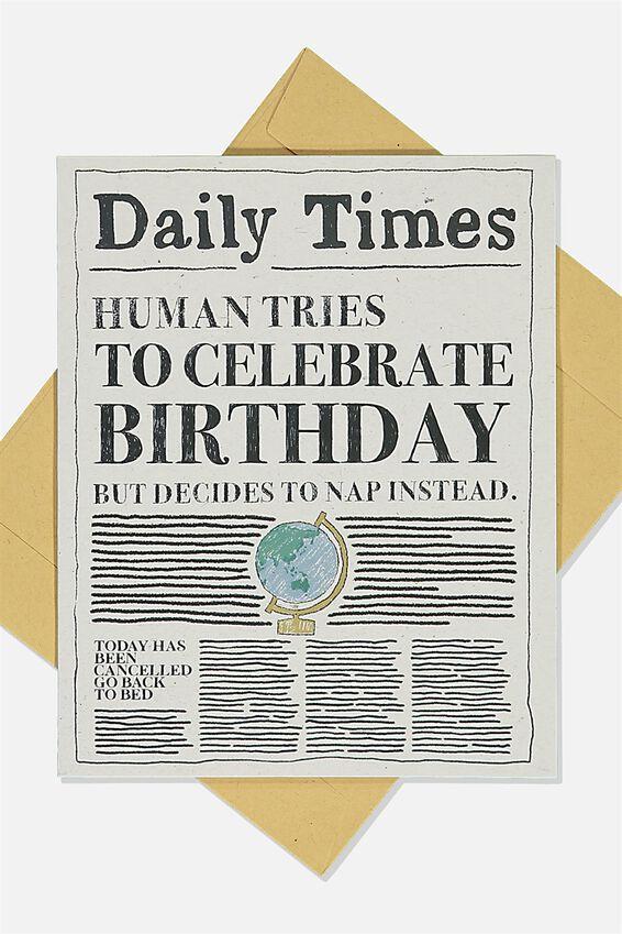 Nice Birthday Card, DAILY TIMES NEWSPAPER