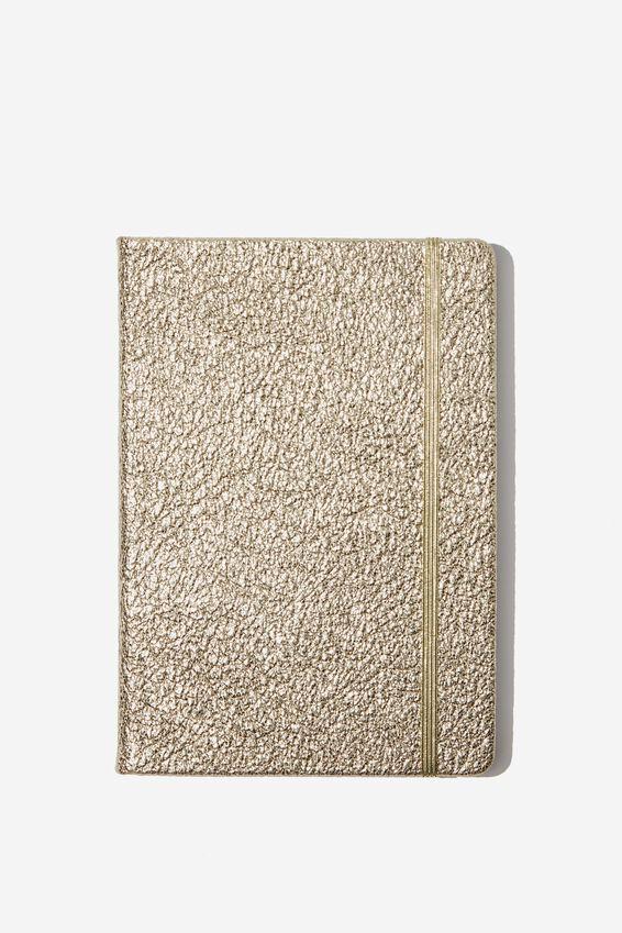 A5 Buffalo Journal, GOLD CRACKLE
