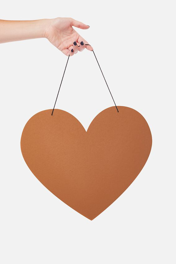 Acrylic Board, ROSE GOLD HEART