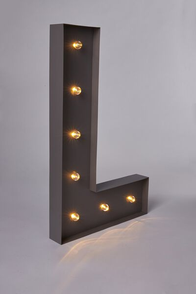 Marquee Letter Lights 70cm, SILVER L