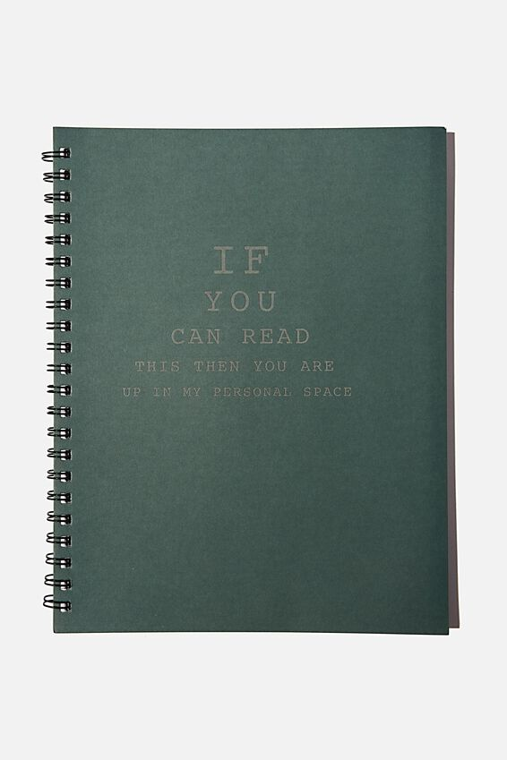 A4 Campus Notebook Recycled, PERSONAL SPACE