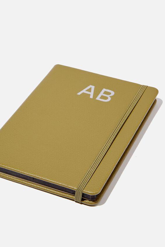 A5 Buffalo Journal Personalisation Large Letters, KHAKI