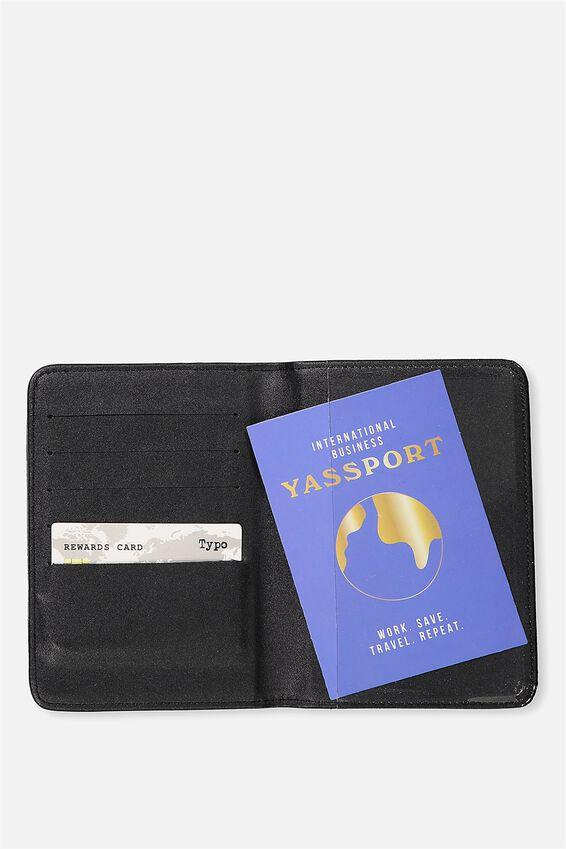 Passport Holder, ROSE GOLD GLITTER