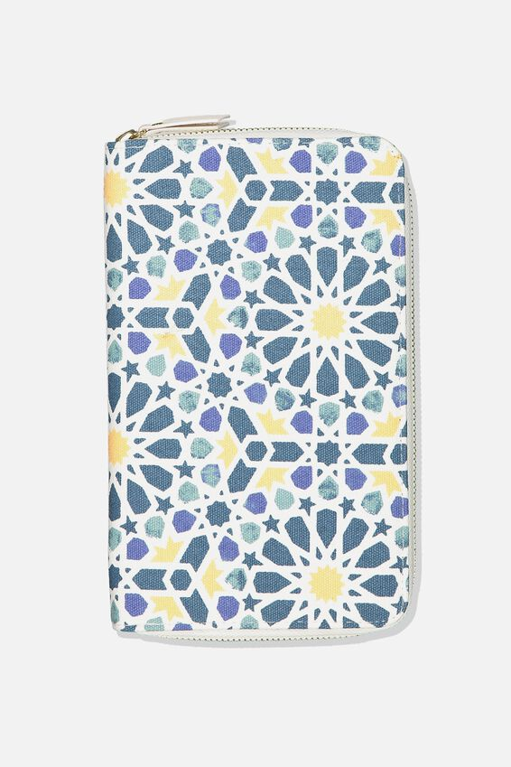 Rfid Odyssey Travel Compendium, MOROCCAN TILE PRINT