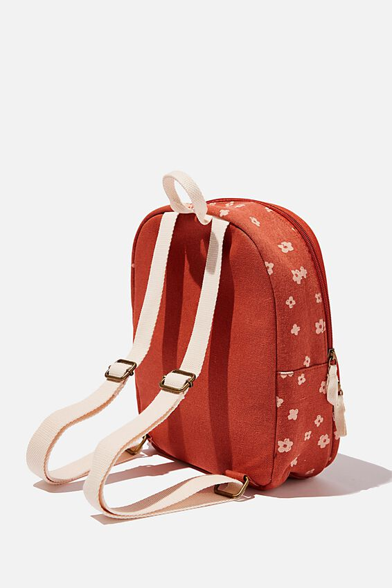 Nano Backpack, CHARLIE FLORAL RUST