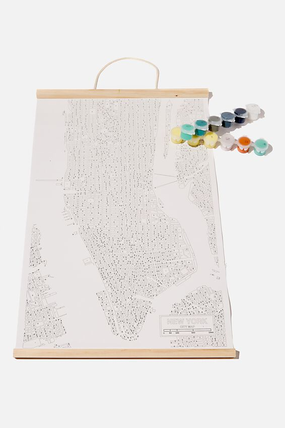 Paint By Numbers, NEW YORK MAP