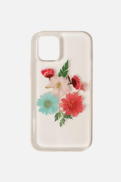 Snap On Protective Phone Case Iphone 12, 12 Pro, TRAPPED FLORAL & FERN