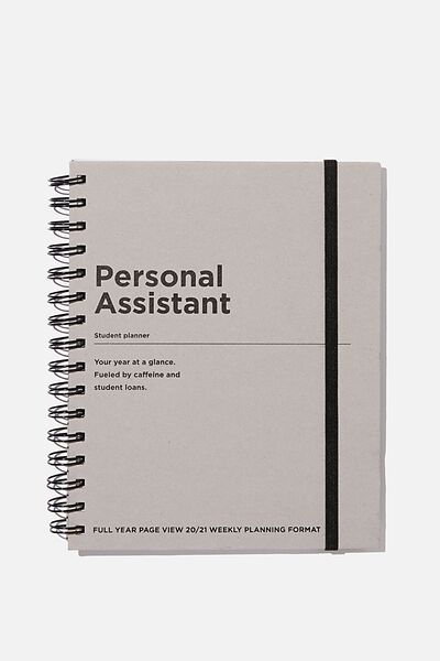 Student Planner 2020 / 21, PERSONAL ASSISTANT GREY