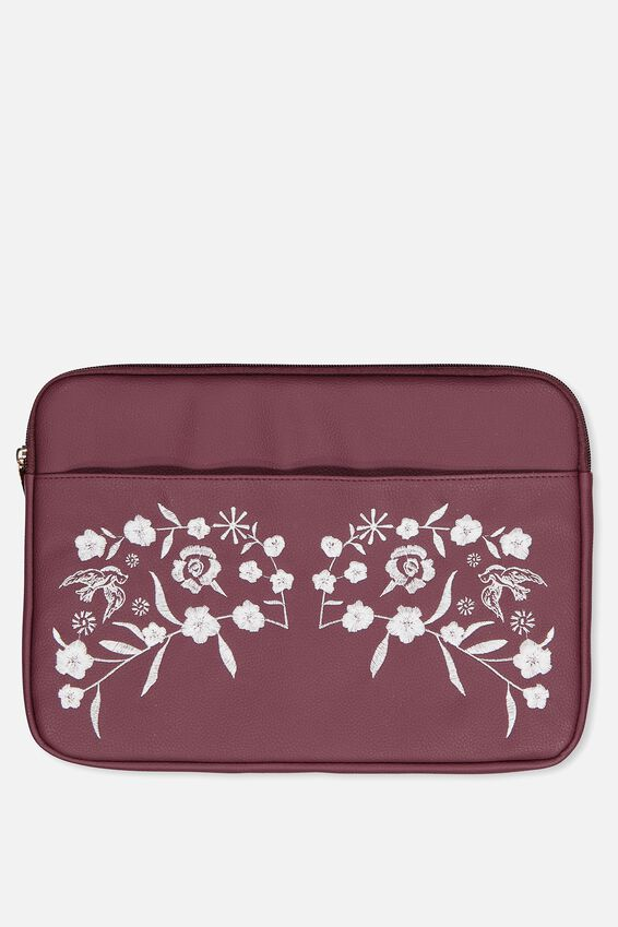 Take Charge Laptop Cover 13 inch, BURGUNDY
