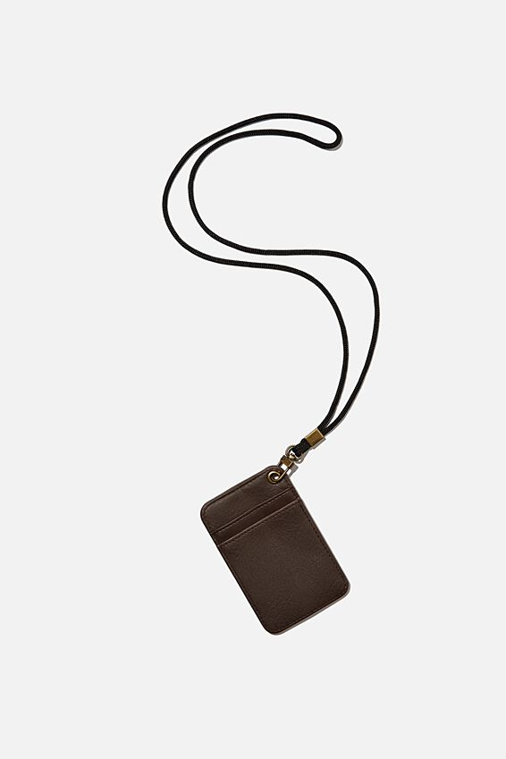 Card Holder With Lanyard, BITTER CHOC