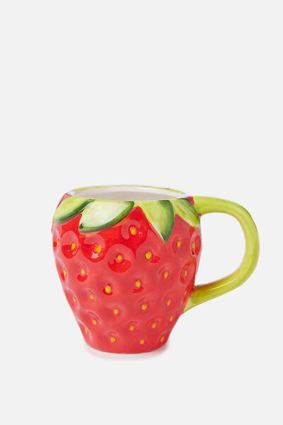 Novelty Shaped Mug, STRAWBERRY