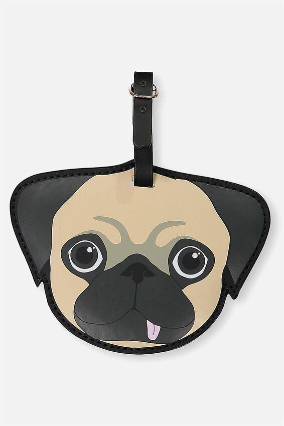 Shape Shifter Luggage Tag, PUG WITH TONGUE