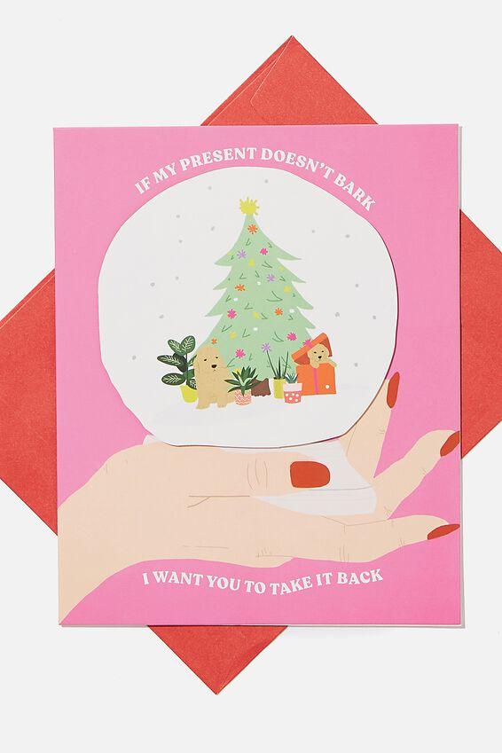 Christmas Card 2020, PRESENT DOESNT BARK!
