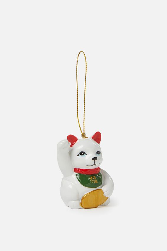 Christmas Ornament, LUCKY CAT