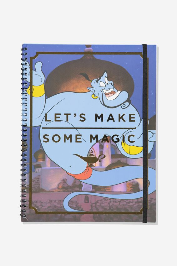 A4 Disney Spinout Notebook - 120 Pages, LCN DIS ALADDIN GENIE