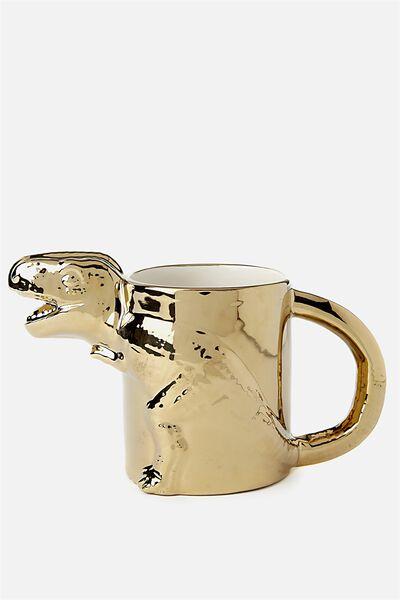 Novelty Shaped Mug, T-REX EMBOSSED