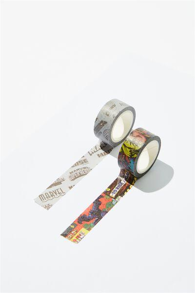 Washi Tape 2Pk, LCN MAR MARVEL YARDAGE