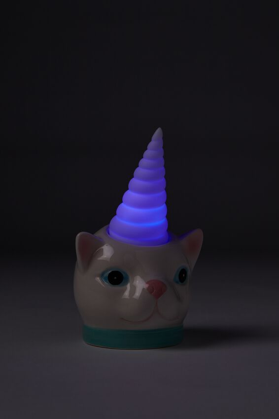 Mini Ceramic Novelty Light, CATICORN
