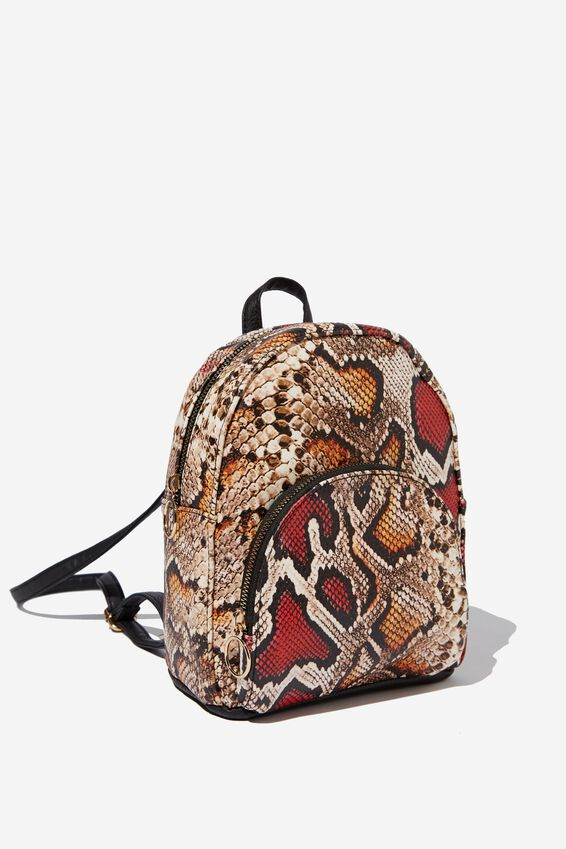 Sunset Mini Backpack, MULTI SNAKE