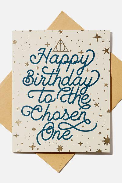 Nice Birthday Card, LCN WB HPO CHOSEN ONE