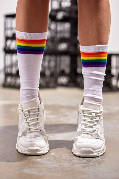 Socks, STRIPE RAINBOW