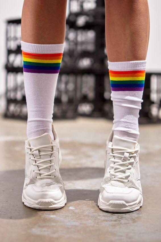 Socks, STRIPE RAINBOW