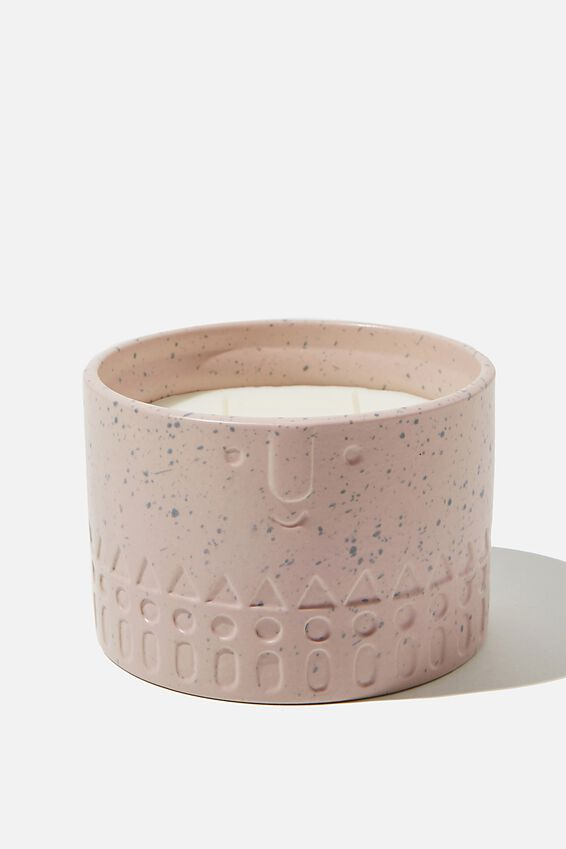 Ceramic Face Candle, PINK
